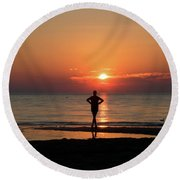 Dawn II Round Beach Towel