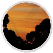 Dawn In The Forest Round Beach Towel by Mark Blauhoefer