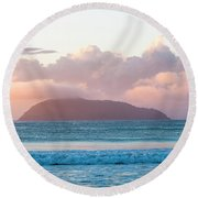 Dawn Round Beach Towel by Lana Enderle