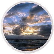 Dawn Of A New Day Treasure Coast Florida Seascape Sunrise 138 Round Beach Towel
