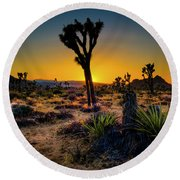 Dawn Of The Morning Round Beach Towel