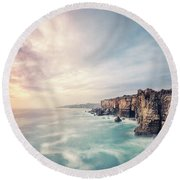 Dawn Of The Night Round Beach Towel