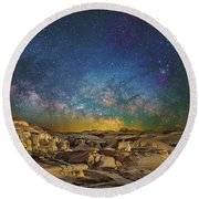 Dawn Of The Universe Round Beach Towel