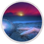 Round Beach Towel featuring the photograph Dawn Of The Warriors by Mark Andrew Thomas