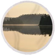 Dawn On Ottertrack Lake Round Beach Towel