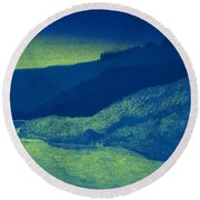 Dawn On The Seine Round Beach Towel