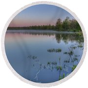 Round Beach Towel featuring the photograph Dawn Over North Bay by Rod Best