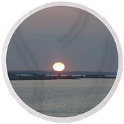 Round Beach Towel featuring the photograph Dawn by  Newwwman