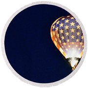 Round Beach Towel featuring the photograph Dawns Early Light by AJ Schibig