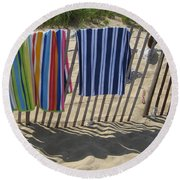 Day At The Beach Round Beach Towel