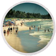 Day At The Beach Round Beach Towel by Rosalie Scanlon