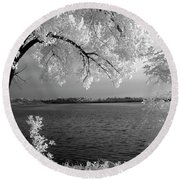 Day At The Lake Round Beach Towel