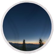 Day Becomes Night Round Beach Towel