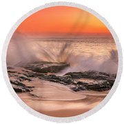 Day Break Round Beach Towel