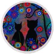 Day Dreamers Round Beach Towel