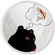 Day Dreaming Of Lunch Round Beach Towel by Joseph Frank Baraba