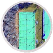 Round Beach Towel featuring the photograph Day In The Park 2 by Dave Luebbert