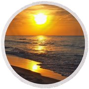 Day Is Done Round Beach Towel