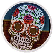Round Beach Towel featuring the photograph Day Of The Dead  by Mitch Shindelbower
