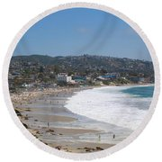 Day On The Beach Round Beach Towel
