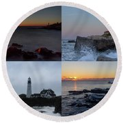 Day Or Night In Any Season Round Beach Towel