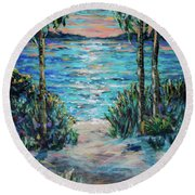 Day To Night Round Beach Towel