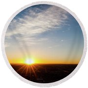 Round Beach Towel featuring the photograph Daybreak 2011 by SR Green