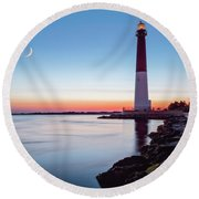 Daybreak At Barnegat Round Beach Towel