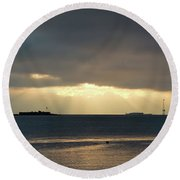 Daybreak Charleston Round Beach Towel