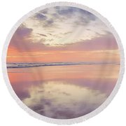 Daybreak In Paradise Round Beach Towel