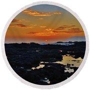 Daybreak Kalaupapa Round Beach Towel by Craig Wood