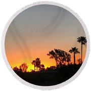 Round Beach Towel featuring the photograph Daybreak by Kim Nelson