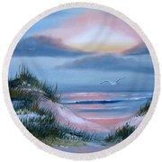 Daybreak Round Beach Towel