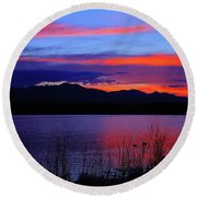 Daybreak Sunset Round Beach Towel