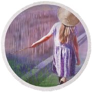 Daydreamer Round Beach Towel by Wallaroo Images