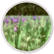 Daydreams In A Meadow Round Beach Towel