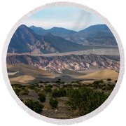 Round Beach Towel featuring the photograph Daylight Pass by Joe Schofield