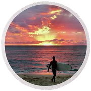 Day's End On The North Shore Round Beach Towel