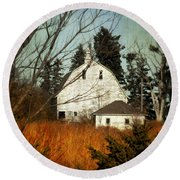 Round Beach Towel featuring the photograph Days Gone By by Julie Hamilton