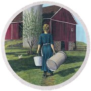 Days Gone By Round Beach Towel