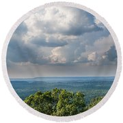 Round Beach Towel featuring the photograph Days On The Mountain by Parker Cunningham