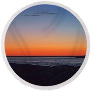 Round Beach Towel featuring the photograph Days Pre Dawn by  Newwwman