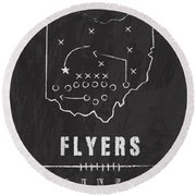 Dayton Flyers / Ncaa College Football Art / Ohio Round Beach Towel