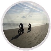 Daytona Beach Bikers Round Beach Towel