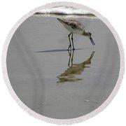 Daytona Beach Shorebird Round Beach Towel