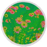 Dazied Round Beach Towel