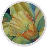 Dazzling Daffodil Round Beach Towel