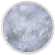 Round Beach Towel featuring the photograph Dazzling Silver World by Jenny Rainbow