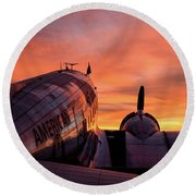 Dc-3 Dawn - 2017 Christopher Buff, Www.aviationbuff.com Round Beach Towel