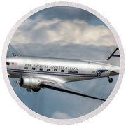 Dc-3 Round Beach Towel by Jeff Cook